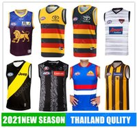 2021 AFL Collingwood Western Bulldogs Rugby Jerseys Richmond Brisbane Lions Port Adelaide Hawthorn Essendon Melbourne Corvos GWS Giants