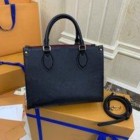 Мода Onthego M44576 M49925 Женщины Luxurys Дизайнеры Сумки 2021 Подлинные Кожаные Сумки Мессенджер Crossbody Сумка Сумка Сумка Кошелек Кошелек Рюкзак