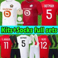 Losc Lille Camisetas de Fútbol 2021 2022 blak David fonte Bamba Yazici 21 22 Lille Olympique jikone 10 Maillot Men 's Children' s Set + Socks Camisa de fútbol completa