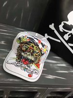Qualità High Tiger Water Diamond Skull Trendy Ed Hardy Hat