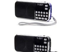 L-088 휴대용 스피커 MP3 오디오 음악 플레이어 Y-501 FM 라디오 라우드 스피커 플래쉬 라이트 USB AUX TF 슬롯 30pcs