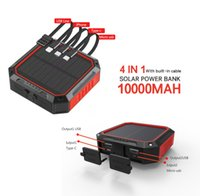 Commercio all'ingrosso mini Banca di potenza Soar 10000mAh con cavi Powerbank Shenzhen Factory Pannello solare Caricabatterie per iPhone 12