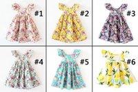 11 дизайнов Вишневый лимон хлопчатобумажные от спинки девочки цветочные пляжные платья милые детские летние лето без спинки платье для детей