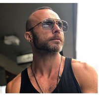 Polígono dos homens Tita Dita Unless Metal óculos de sol seis óculos Mach Mulheres LKJQs