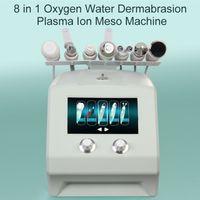 Portable 8 In 1 Plasma Ultrasonic Microcrystalline Dermabrasion Facial Skin Management Exfoliating Water Oxygen jet Facial Beauty Machine