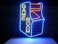 Game Room Sign DIY Glas LED Neonzeichen Flex Seil Licht Indoor / Outdoor Dekoration RGB Spannung 110V-240V 17 * 14 Zoll