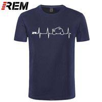 REM NIEUWE COOL T-shirt T-shirt Japan Motorfietsen Heartbeat GSXR 1000 750 600 K7 210415