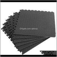 Yoga 12 stücke 30 * 30 cm Schutzbodenmatte Anti-Rutsch-Blase-Schaum-Schaum-Übungskissen Home-Turnhalle Absorbieren Wasserdichte Fußbodenmatten Ikhnh Gmje6