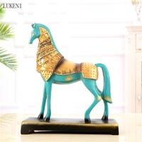 American Animal Desktop Gabinetto Retro Office Creativo Artigianato Living Room Tang Horse Decorazione 210414