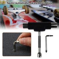 Полуавтоматический скейтбордский гаечный ключ Многофункциональная сборка ремонтных инструментов Комплект T-образной формы съемный роликовый конька скейвер Skateboarding