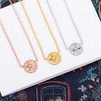 S925 Silver round shape pendant necklace with diamond and hollow design bracelet in three colors for women wedding jewelry gift have box PS4331