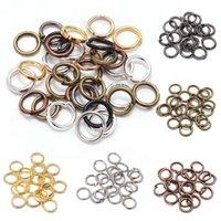 500 unids / lote 4 5 6 8 10 mm anillos de salto Conectores de anillos divididos para la joyería de bricolaje Hacer accesorios de accesorios al por mayor Suministros 1383 Q2