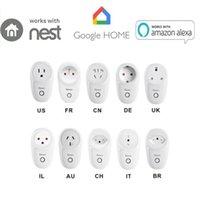Smart Home Control Sonoff S26 WiFi Switch Plug EU-E / EU-F / UK / AU / US / BR / IT / IL / CH / CN Timer Power Socket E-Welink العمل مع Alexa Google