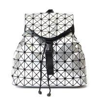 2021 Nueva mochila japonesa y coreana Mochila PU Geometric Diamond Pattern Bolsa Mochila transfronteriza Bolsa de viaje al aire libre de moda