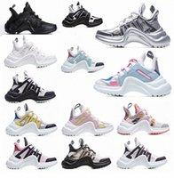 Yüksek Kaliteli Archlight 2021 Moda Rahat Baba Ayakkabı Blok Hakiki Deri Sneakers Örgü Siyah Nefes Yay Platformu Ayakkabı Stilleri 35-40 7U4U #