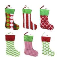 Nuovi disegni Calza di Natale Ricamato Personalizzato Stoccaggio Borsa regalo Sacchetto regalo Xmas Tree Candy Ornament Family Holiday Stocking 2021