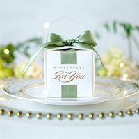 Wedding Favors Gift Box Souvenirs With Ribbon Candy es For Christening Baby Shower Birthday Event Party Supplies 210805
