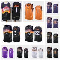 Şehir Kazanılan Baskı Devin 1 Booker Basketbol Formaları Deandre 22 Ayton Chris 3 Paul Erkekler Dikişli Boyut S-3XL