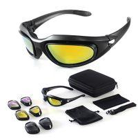 Очки для мотоциклов для очков CS Открытая стрельба Тактическая езда Велоспорт лыжи Sportswear Motocross Offroad
