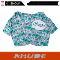 Chemise à manches courtes HIP HOPH Rhude Chemise Rhude Path Rhude Chemise florale exclusive à manches courtes exclusive