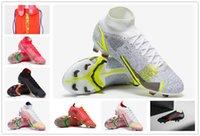 선물 가방 망 높은 발목 축구 신발 CR7 Mercurial XIV Dragonfly 14 엘리트 FG 클리트 옥외 Neymar Acc Superfly VIII 축구 부츠
