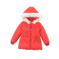 Down Coat Children Clothes Baby Girls Thick Warm Jacket Kids Cute Pearl Decorated Cotton Outerwear Solid Color Hooded Puffer 3 4 5 6y