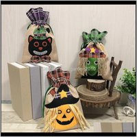 Christmas Festive Party Supplies Home & Garden Drop Delivery 2021 Candy Stocking Halloween Decorations Non-Woven Pumpkin Tote Bag Ghost Festi