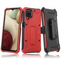 New Style 2 In 1 With Belt Clip Kickstand Phone Cases Cover For Samsung A72 A12 A02S A32 5G 4G