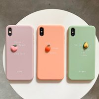 3D Candy Color Fruit Avocado Letter Phone Cases Soft Silicone TPU Shockproof Cover For iPhone 13 11 Pro XS MAX XR X 7 8 Plus
