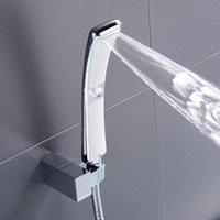 목욕 액세서리 세트 2 기능 핸드 핸들 샤워 헤드 고압 비 스프레이 물 절약 닦 았 니켈, 블랙 디자인