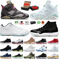 Basketbol Ayakkabıları 6 6s Altın Çemberler Elektrik Yeşili UNC Kara Kedi Kızılötesi Beyaz Carmine Cactus Jack Üniversite Mavi Erkek Spor Sneakers Jumpman VI Eğitmenler Boyut 13