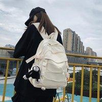 Mochila estilo mujer malla muchacho estudiante universidad universidad mujer bolsa de escuelas hombres bolso de libros Nylon niña portátil viajes harajuku mack 2021