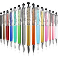 Ballpoint Pens 15 Pieces Bling With Stylus Tip Crystal Diamond Pen Black Ink Screen Touch Capacitive