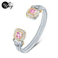 UNY Bracelet Twisted Wire Cable Bangle Fashion Designer Brand inspired jewelry Antique Bangles Elegant Christmas Gift Bracelets A0611