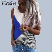 Summer Women's Printed Vest Tops Ladies Casual Loose Shirt Fashion T-shirt Sleeveless O Neck Shirt Women Tank Tops S-3XL 210603