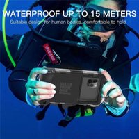 Diving Waterproof Case for iPhone 12 Mini 11 Pro Max XR XS 6s 8 Plus Professional Swimming Phone Cover with Lanyard Strap Shellbox
