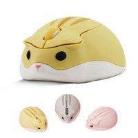 2.4G Ratón óptico inalámbrico Hamster lindo Hamster Ratones de computadora Ergonómico Mini 3D Oficina de PC 3D para Niño Regalo