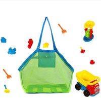 أطفال الطفل حمل شاطئ اللعب الرمال بعيدا شاطئ حقيبة outdoors الحقيبة حمل شبكة الأطفال تخزين لعبة طوي شبكة الشاطئ أكياس
