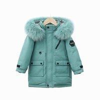 الأطفال أسفل معطف الاطفال الشتاء أبلى الفتيات ملابس الأولاد ملابس الأطفال سترة طويلة سميكة مقنع جاكيتات الدافئة معاطف b8410