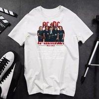 Camisa do aniversário ACDC Camiseta Prenda clássico do presente do algodão, tamanho S-3XL