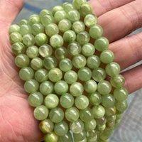 4/6/8/10 / 12mm runde natürliche südliche jade steinperlen diy lose grüne jade perle für schmuck machen armband strang 15 '' 111 q2