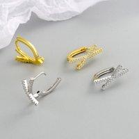 Hoop & Huggie Romantic Zircon Cross Small Earrings For Women Dating Jewelry Gift Statement Boucle Oreille Femme Aretes De Mujer