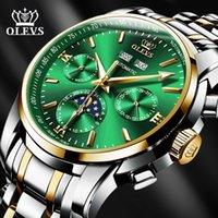 Designer Luxus Marke Uhren Olevs Männer ES Automatische Schwarz Edelstahl Wasserdichte Business Sport Mechanisches Handgelenk 6633