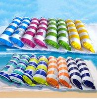 حمام السباحة العائم الطراز العائم Floatings صف قابلة للطي مسند الظهر ثنائي الغرض مع شبكة أرجوحة، الترفيه والتمتع كرسي، من السهل حمل الرمال اللعب متعة