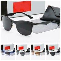 Pilot designers sun glasses for men women shades 2021 luxury aviator fashion Anti-UV metal frame classic eyewear accessories occhiali da sole firmati with case
