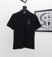2021 Europeia Primavera e verão Última Moda Letra de Corpo Full-Corpo Camuflagem Impressão Mista Algodão França Paris Men's Camisetas Polo Branco Masculino