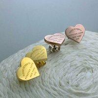 Forever Love Boucles d'oreilles 316L Mode Designer Boucles d'oreilles Gold Hoop Boucles d'oreilles pour Lady Femmes Party Mariage Amoureux de mariage Bijoux de fiançailles pour la mariée