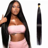 10A Straight Body Wave Bundles Soft 100% Human Hair Remy Brazilian Bone 30 Inch