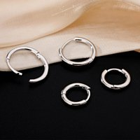 Hoop & Huggie YAOLOGE 925 Sterling Silver Round Circle Earrings Female Fashion Temperament Exquisite Elegant Handmade