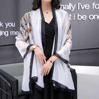 scarf Hangzhou silk feminine temperament versatile shawl dual purpose summer spring and autumn super long thin large